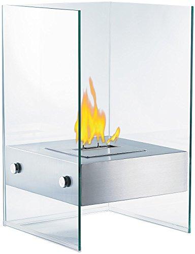 Carlo Milano Dekofeuer: Bio-Ethanol Deko-Feuer im Glaswürfel-Look (Ethanol Kamine)