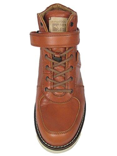 KangaROOS Herren Leder Sneaker Boot Stiefel Skywalker Cognac