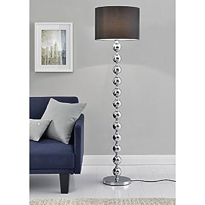 [lux.pro] Stehleuchte - Spheric Black - (1 x E27 Sockel)(155 cm x Ø 40 cm) Stehlampe Fußbodenlampe Zimmerlampe Wohnzimmerlampe von [lux.pro] - Lampenhans.de
