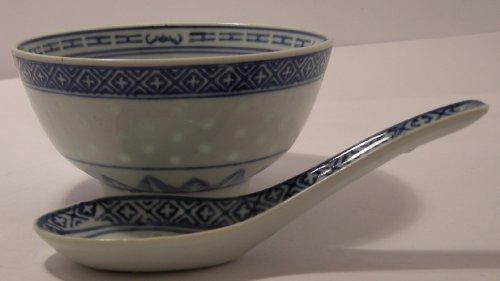 Bowl U0026 Spoon Set Ceramic Rice Pattern Guaranteed Quality