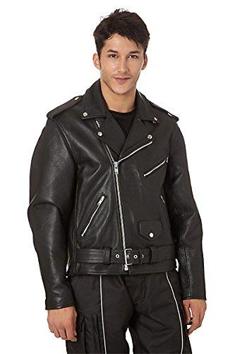 Preisvergleich Produktbild KENROD Lederjacken für Männer Heavy Ausführung mit Schutz 100% Leder Farbe Schwarz Farbe altes Leder Größe M