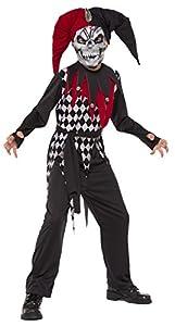 Halloween - Disfraz de Arlequín Malvado para niños, infantil 5-7 años (Rubie