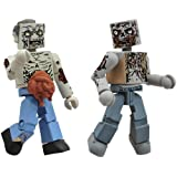 Diamond Select Toys Walking Dead Minimates Series 1: Guts Zombie & Burned Zomie - Herd Zombies 2-Pack