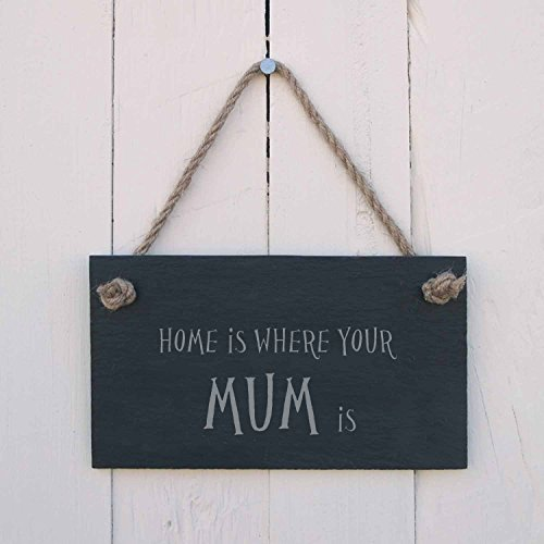 Monsety Holz Plaque Home is Where Your Mum ist Wand Hängende Dekoration Schild Home Spass Fun Schild