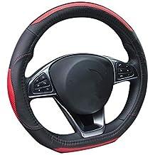 ZXPT Fundas para Volante D Ring Car Volante Cubierta De Cuero De Lujo para Volkswagen Golf