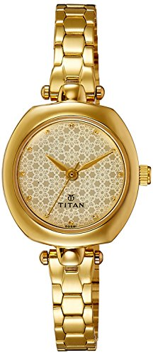 Titan Karishma Analog Beige Dial Women's Watch -2520YM01