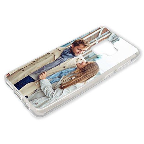 PixiPrints Personalisierte Premium Foto-Handyhülle für Samsung Galaxy-Serie selbst gestalten mit Foto bedrucken, Hülle:Slim-Silikon/Transparent, Handy:Samsung Galaxy S9
