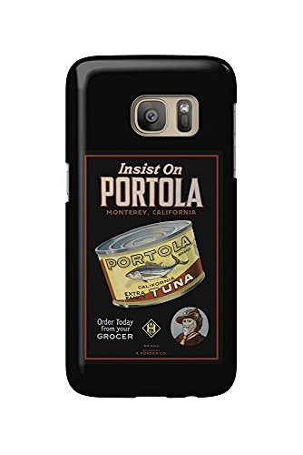 Monterey, California - Portola Cannery Label (Galaxy S7 Cell Phone Case, Slim Barely There)