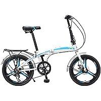 XMIMI Velocidad de Bicicleta Plegable Hombres y Mujeres Estudiantes Adultos Jóvenes Bicicleta de una Rueda 20 Pulgadas 7 Velocidad