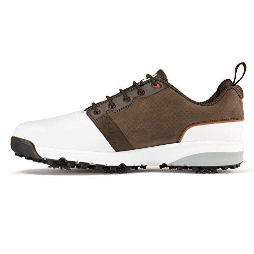 Footjoy Herren Contour Fit Golfschuhe, Verschiedene Farben (Weiß/Braun), 43 EU (Footjoy Schuhe Shop)