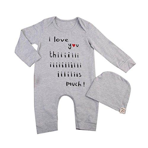 Kostüm Schlafanzug Tanz (Baby Jungen Mädchen Spielanzug Spielanzug Overall Hut 2pcs Outfits Neugeboren Kleider Set Hirolan (80cm,)