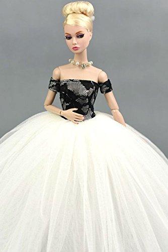 """Hohe Qualität Handgemachte Hochzeit Kleid für 11.5 """"barbie Doll/Lace Netzgarn Abendkleid"""