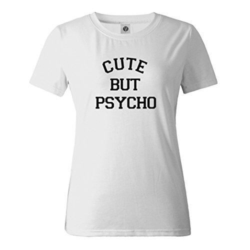 Yeesea Damen Baumwolle Kurzarm Top Bluse Sommer Rundhals drucken Brief T-shirt Weiß