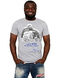 """Gerald Asamoah Herren T-Shirt """"Schalke 04 - Eine Liebe"""" Blau Schwarz Grau"""