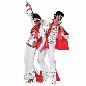 Stekarneval - Disfraz de Elvis para hombre, talla UK 46 (533756)