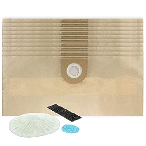 SPARES2GO Dust Bag & Filter Set for Vax 3-in-1 Multifunction 6131 Vacuum Cleaners (10 (4000 Car Series)