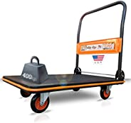 EuroLadderSystems Portable Trolley 3 x 2 feet - 400 kg Load Capacity - Carbon Steel - M Series Sillicon Noisel