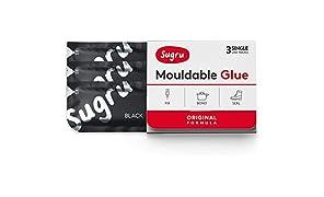 sugru SBLK3 Mouldable Glue Negro 3pieza(s) - Aislamiento de Cables (3 Pieza(s))