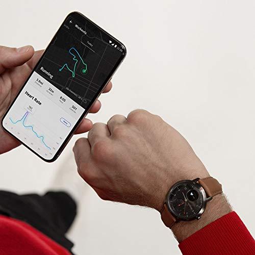 Withings Steel HR Sport - Multi-Sport Hybrid Smartwatch - Herzfrequenz- und Fitnesstracker, schwarz, 40mm - 5
