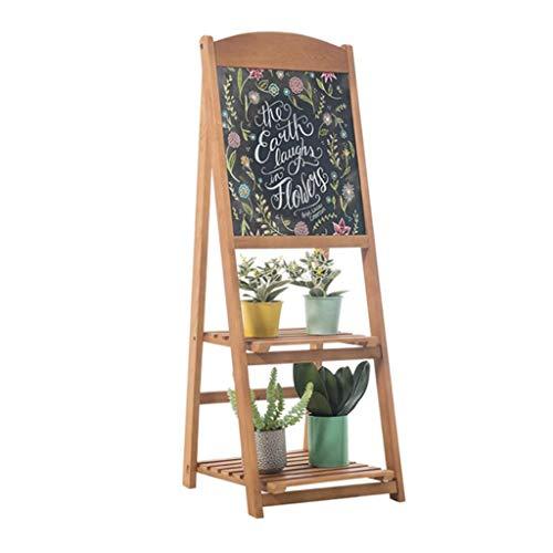Skizzenblock Blume Topf Regal Hölzern Mehrzweck Bonsai Gestell zum Kaffee Geschäft Blume Geschäft Pflanze Stehen für Blumen Sukkulenten Max Belastung 15 kg 2 Schichten Bodenständig