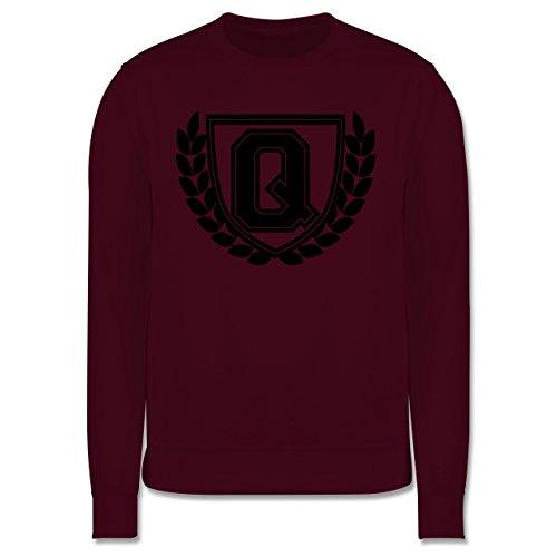 ac5ef8d86667 Anfangsbuchstaben Q Collegestyle Herren Premium Pullover Burgundrot ...