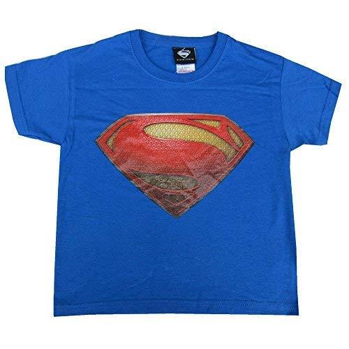 Dc Comics Superman Niño en Azul Retro de la Camiseta Edad 3-4 Años, 5-6 Años, 7-8Y, 9-10 Años Nuevo con Etiqueta - Azul, 7-8 Años, Azul - Algodón 100% - Camiseta Retro - Superman Camiseta