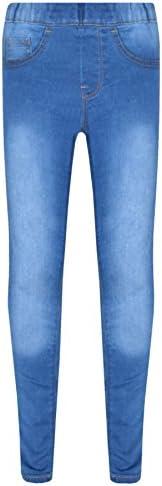 A2Z 4 Kids® Bambini Elastico Jeans Ragazze Denim Pantaloni Elegante Pantaloni Leggings Età 5 6 7 8 9 10 11 12