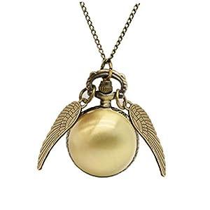 Antike Kugel Flügel Snitch Taschen-Uhren Quarz-Uhrwerk Hängende Taschen-Uhr-Geschenke Für Einen Mann Eine Frau