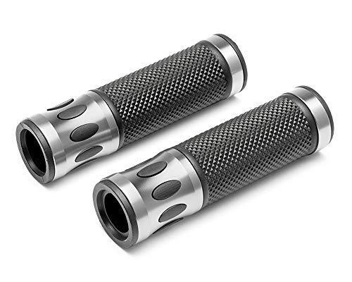 Motorrad Griffe für 22mm Stangen - Silber - Eloxiertes Aluminium - Hochwertig