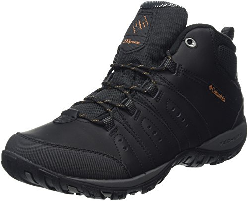 Columbia Peakfreak Nomad Wp Omni-Heat, Sneakers da uomo Nero (Black, Goldenrod 010Black, Goldenrod 010)