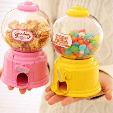 Bheema Mini Candy Machine Chocolate monete salvadanaio Barattolo Bambini Regalo Giocattolo