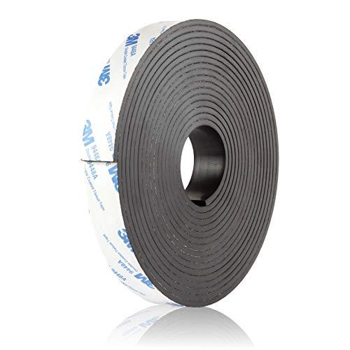 BOWMAN Premium Magnetband | Extra Breit, Extra Stark | Selbstklebend und individuell zuschneidbar | Magnetklebeband mit kostenlosem Ratgeber (3 Meter)