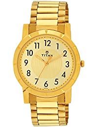 Titan Analog Gold Dial Men's Watch -NK1647YM02