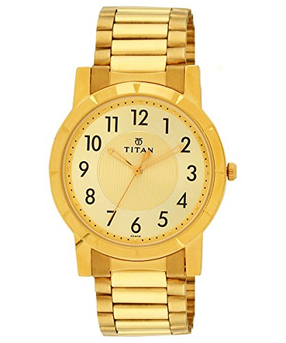 41zqxbAFwKL - 1647YM02 Titan Gold Mens watch