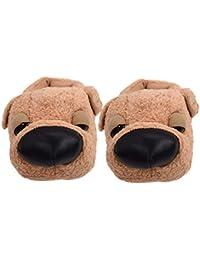 TY fashion Chaussons Pantoufles Animal Chien Chaudes pour Femmes Hommes b967d6b96e16