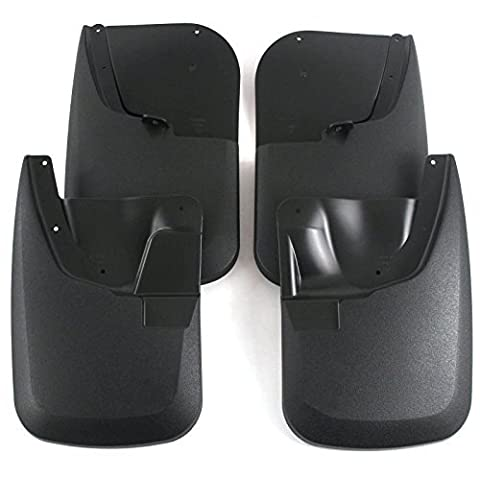 2011-2016 Ford Super Duty F250/F350 Mud Flaps Mud Guards Splash Guards Front & Rear 4pc Set (Without Fender Flares) by Red Hound Auto
