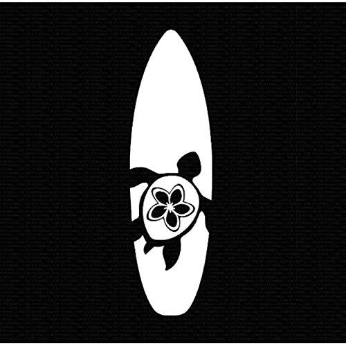 (Zemn Wandaufkleber Surfboard Schildkröte Vinyl Auto Aufkleber Kunst Dekor Aufkleber Autofenster Neue Wasserdichte 18 cm Groß)