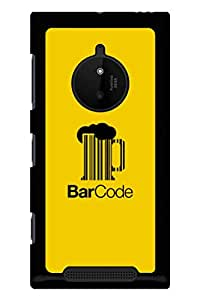 Caseque Bar Code Back Shell Case Cover For Nokia Lumia 830