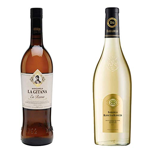 Manzanilla La Gitana En Rama Y Blanco De Los Blancos - D. O. Manzanilla De Sanlúcar De Barrameda Y Vino Blanco - 2 Botellas De 750 Ml