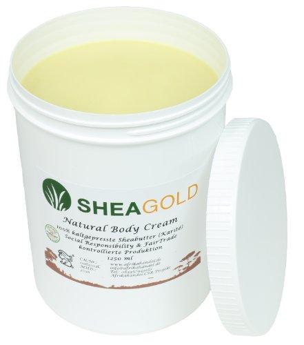 Weiße Shea-butter (SheaGold Sheabutter kalt gepresst unraffiniert 1000gr.)