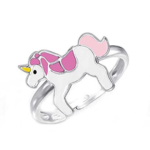 SL-collection kinderring pinkes taille ajustable argent 925 motif licorne