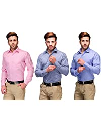 b0c876a412d Koolpals Mens Formal Shirts Pack of 3 Shirts Combo