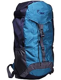 F Gear Tramper Navy Blue Aqua Blue 30 Liters Trekking Backpack