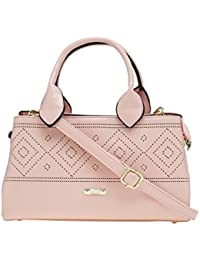 ESBEDA Pink Solid Pu Synthetic Material Arm Handbag For Women's