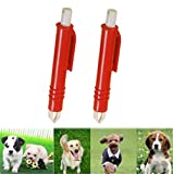 Yosoo 2Pcs Tick Remover Tweezers for Dogs and...