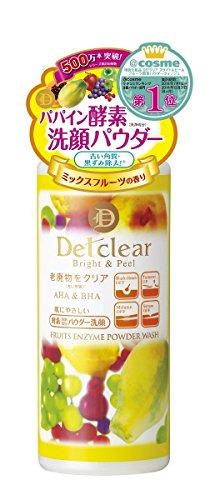 Meishoku JAPAN Light color cosmetics DET Clear Bright & Peel fruit enzyme powder Wash 75g