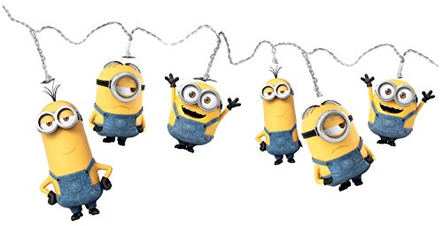 Weiß LED String Lampen- Minions Bob, Kevin und Stuart - Perfekte Geschenkidee für Minions Fans!