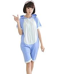 Hommes et femmes mignon et beau Été unisexe Cartoon Coton Anime animaux Pyjamas cosplay costume Lovers adultes Ensembles de nuit Pyjama