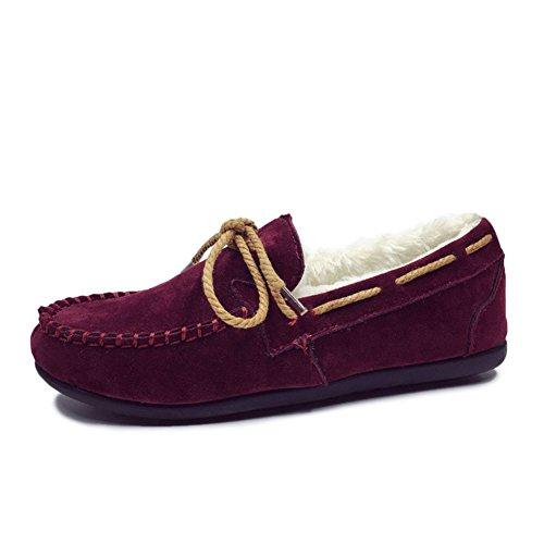 Stiefel Winterschnee/Frau Schuhe/Koreanische Version des Schuhs Doug/Plus samt gepolstert warme Damen Schuhe/Flach-Boden Skid Schuhe A