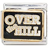 Over the hill enamel charm - 9mm Italian charm fits Zoppini, Talexia, Boxing and Nomination style Italian charm bracelets